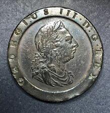 1797 Great Britain George III Cartwheel 2 Pence, Nicely Toned