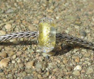 Trollbeads Trollbead Gold Silver Trace Bead...NEW