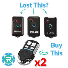 2 x Boss/Guardian/Steel Line/Lynx/Centurion 2211L Garage Compatible Remote BOL