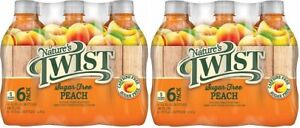 Nature's Twist Sugar Free Peach 16 oz 6 Bottle Pack 2 Pack