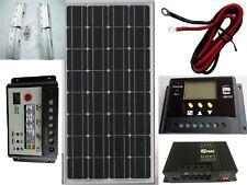 Kit de panel solar de 100W 12V controlador de carga de la batería 20A Caravana Barco Hogar RV MPPT