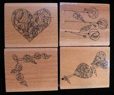 MACKINTOSH Set of 4 Rubber Ink Stamps - Excellent Quality, 4 Stylish Designs
