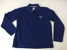 Armani Junior Blue Polo Collared Long Sleeve Boys Top Age 10 Years