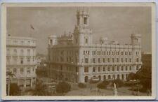 Cuba Havana Habana - Asturian Club House old real photo sepia postcard