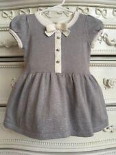 JANIE AND JACK Silver Sparkle Sweater Dress, Girls 3-6 Months, Little Bluebird
