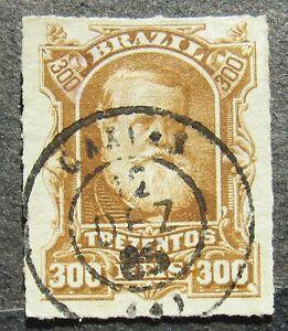 Brazil 1877 Emperor Pedro II, yellow-brown, Mi #45 used