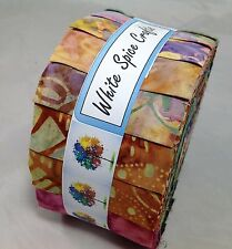 """GARDEN IN AUTUMN"" Genuine Bali Batik Jelly Roll 40 pcs 4 quilting FREE AU POST"