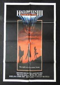 "1982 ""HALLOWEEN III Season of the Witch"" 27x41 Movie Poster John Carpenter NICE"