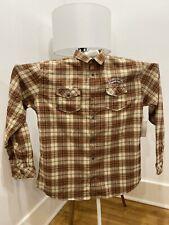 Sierra Nevada  Stout Flannel XXL New Brown Cream Orange Colors Long sleeve