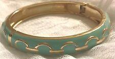 "Premier Designs Pistachio Bracelet  Bangle Style 7 1/2 "" spring hinge bracelet"