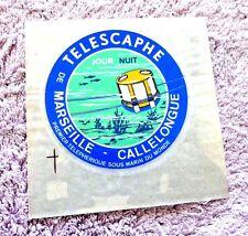 VINTAGE STICKER UNDERWATER CABLE CAR TELESCAPHE DE MARSEILLE CALLELONGUE FRANCE