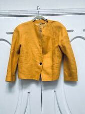 Max Mara 10 Saffron Yellow Linen Jacket  Lined