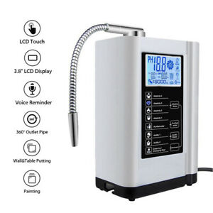 Alkaline Water Ionizer Purifier Device Filter Touch LCD PH3.5-10.5 Washer Tools