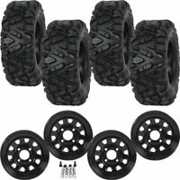 """4 NEW 26"""" TG Tyre Q350 Tires/ ITP Delta Wheels - Honda Pioneer 500 / 700 '14-17"""
