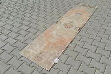 ORANGE Turkish Hallway Runner 2x7ft Vintage Oushak Anatolian Handmade Wool Rug