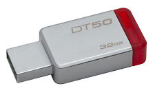 32GB Kingston DataTraveler 50 USB 3.0 Flash Drive Red/Silver