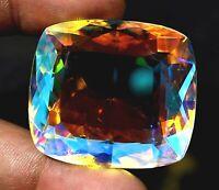 168.55 Ct Natural Rainbow Color Mystic Quartz GGL Certified Amazing Gemstone