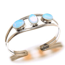 925 Sterling Silver Overlay Bengal Cuff Handmade Fire Opal Gemstone Jewelry