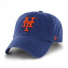 best service 00497 194b4 New York Mets 47 Brand Clean Up Adjustable Field Classic Blue Strap Hat Cap  MLB