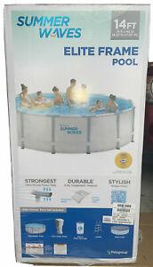 """Summer Waves 14' x 42"""" Elite Frame Pool + New Larger 3512 Gallon - No PR, HI, AL"""