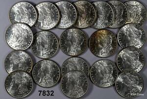 ORIGINAL ROLL 1886 P CHOICE BU ++ FLASHY MORGAN SILVER DOLLARS 20 COINS  #7832