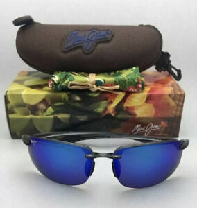 New Maui Jim 407-11 Smoke Grey Frame- Blue Hawaii Polarized Lenses Hookipa
