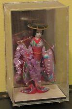 ~Antique Vintage Japanese Geisha Doll in Plastic Shadow Box 1950s OMC Japan~