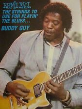 Buddy Guy, Ernie Ball Strings, Full Page Vintage Promotional Print Ad