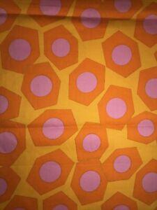 "160x90cm (62.5x35.5"") Vintage 1960s Groovy Cotton Fabric"