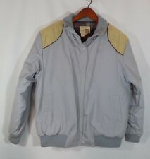 Blue and Tan Vintage Sear's The Fashion Place Unisex Coat in Size L Classic