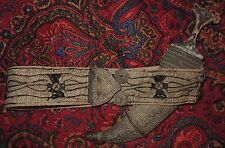 REDUCED Antique ARAB DAGGER KNIFE Horn Handle & Silver Filigree Belt and Buckle