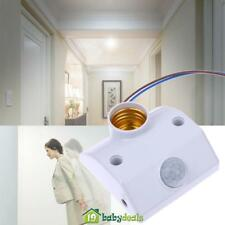 220V IR Motion Sensor Auto LED Delay Light Lamp Holder Switch Stairway Garage
