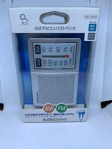 Rare New Ohm Electric AudioComm RAD-F1351M FM AM Portable Pocket Radio