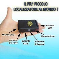 MINI GPS TRACKER ANTIFURTO LOCALIZZATORE SATELLITARE .
