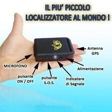 MINI GPS TRACKER ANTIFURTO LOCALIZZATORE SATELLITARE + CAVO BATTERIA OMAGGIO A