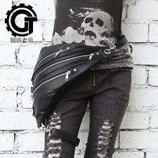 Men Women Rock Leather Retro Vintage Gothic Steam-Punk Shoulder Waist Bag #4
