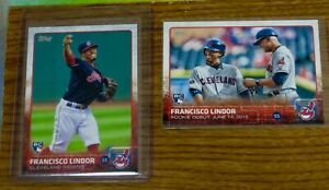 Francisco Lindor 2015 Topps Update Rookie Card + Lot 35 Different w/ Parallels