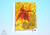 2013 Fleer Marvel Retro Human Torch Sketch Card Jomar Bulda Original Art 1/1