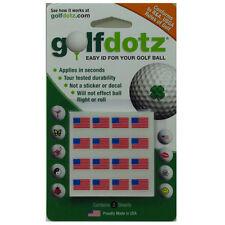 Golfdotz USA Flag Easy ID Mark Your Golf Balls with Golf Dotz