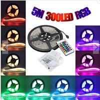 5MT STRISCIA LED RGB SMD5050 IMPERMEABILE 72W/5MT 12V + CENTRALINA + TELECOMANDO