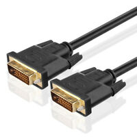 Gold Plated DVI-D M/M DVI Male to DVI Male Digital Dual Link Cable 15FT Black