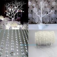 33FT DIY Diamond Acrylic Crystal Bead Curtain Wedding Xmas Party Decor Ornament