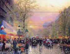 Paris Poster/Paris city of lights le boulevard des lumieres at dusk