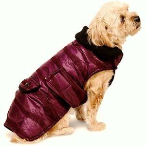 NEW Size XS Cranberry Quilted Portland Parka Sleeveless Dog Pet Coat Jacket