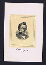 Stephen Douglas, Illinois, Kansas–Nebraska Act -1901 Woodcut Portrait Print