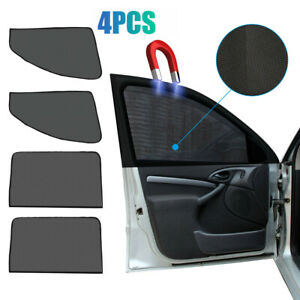 4x Car Side Front Rear Window Sun Shade Cover Mesh Shield UV Protection Magnetic
