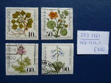 BRD 1981, Wohlfahrt: Gefährdete Moor-, Sumpfwiesenpflanzen, Mi 1108-1111, o