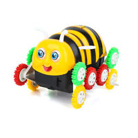 Cute Bee Animal Shape Model Toy Car 360 Degree Electric Tumbling Car For Kid