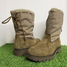 Caterpillar CAT Showcase Fur Boots Shitake/Tan P310536 Women's Size 9