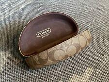Coach Glasses Case Hard Clam Shell Tan / Brown Sunglass Eyeglass Protector